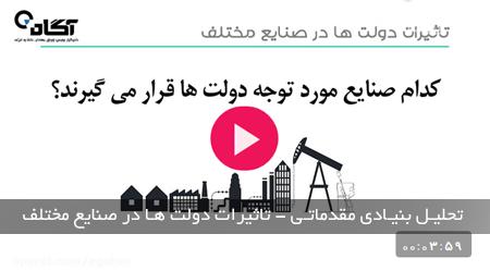 تحلیل بنیادی مقدماتی – تاثیرات دولت ها در صنایع مختلف