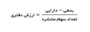 ارزش دفتری از معادله پایه حسابداری