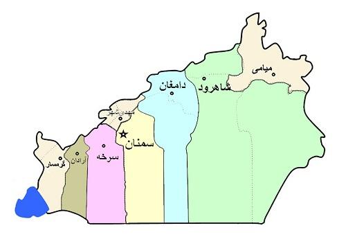 نقشه سمنان