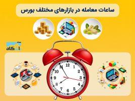 ساعات معاملات بازارهای مختلف بورس