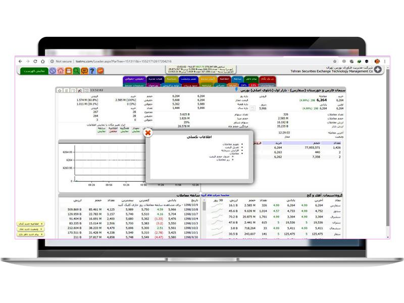 مشاهده اطلاعات سهام