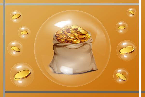 حباب مثت و منفی در سکه